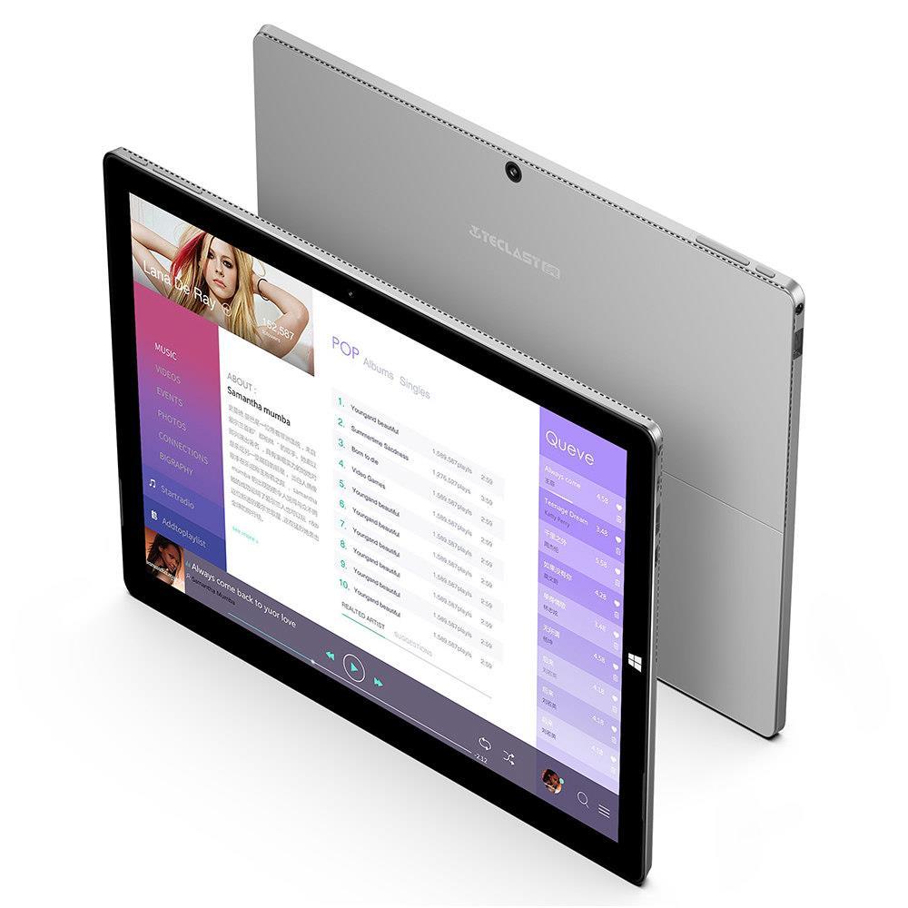 """Teclast X6 Pro 2 1 Tablet PC Intel Core m3-7Y30 Dual Core 12.6"""" IPS 3K 2880*1920 8GB RAM 256GB SSD Windows 10 - Silver"""