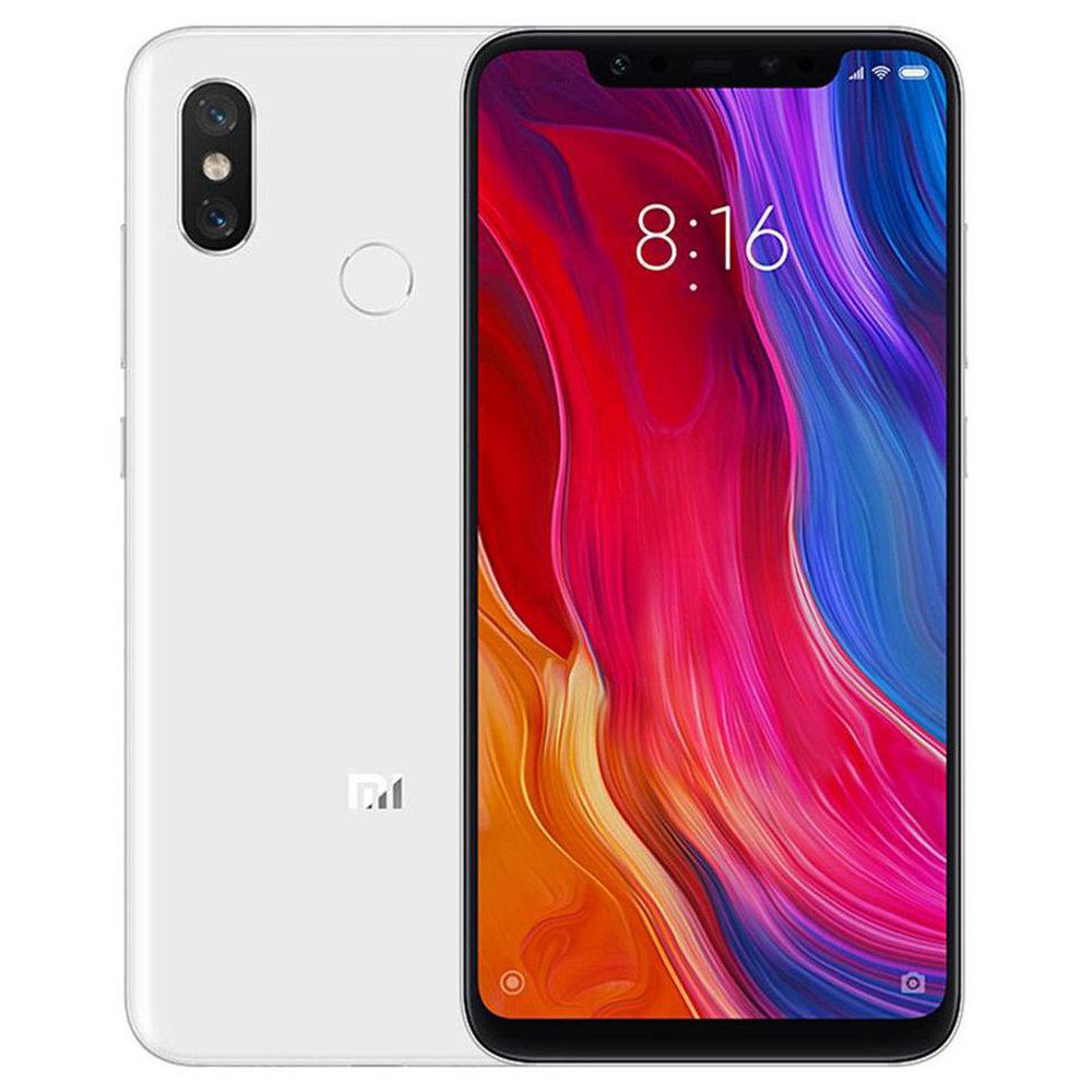 Xiaomi Mi 8 6.21 Inch 4G LTE Smartphone Snapdragon 845 6GB 64GB Dual 12MP Rear Cameras MIUI 9 AMOLED Screen Face ID Type-C Fast Charge Global Version - White