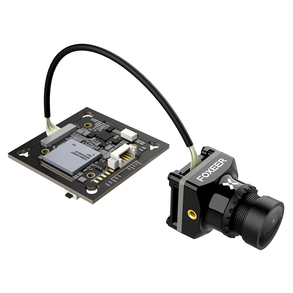 Foxeer MIX 1080P 60FPS OSD Wide Voltage DC 5-24V HD FPV Camera 16:9 4:3 N/P Switchable - Black