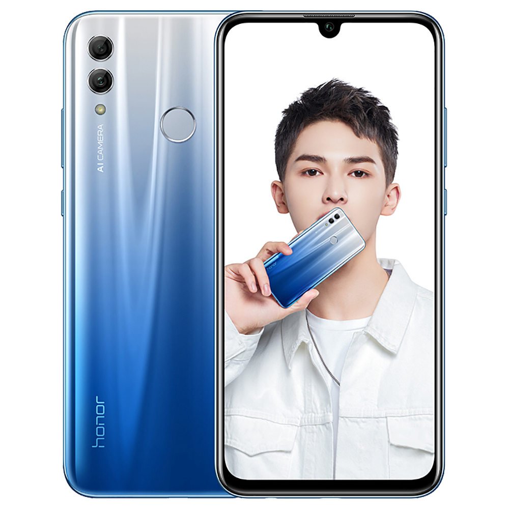 HUAWEI Honor 10 Lite CN Version 6.21 Inch 4G LTE Smartphone Kirin 710 4GB 64GB 13.0MP+2.0MP Dual Rear Cameras Android 9.0 Touch ID - Blue
