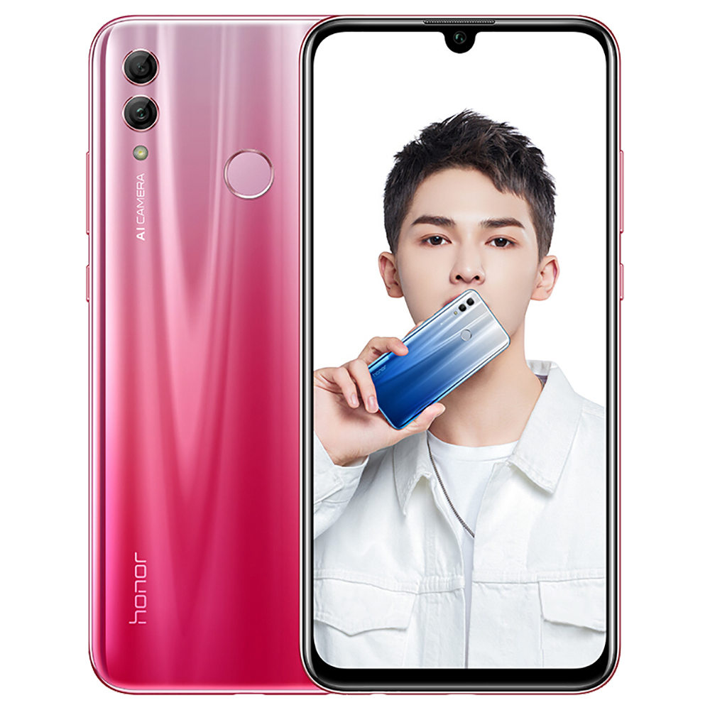 HUAWEI Honor 10 Lite CN Version 6.21 Inch 4G LTE Smartphone Kirin 710 4GB 64GB 13.0MP+2.0MP Dual Rear Cameras Android 9.0 Touch ID - Red