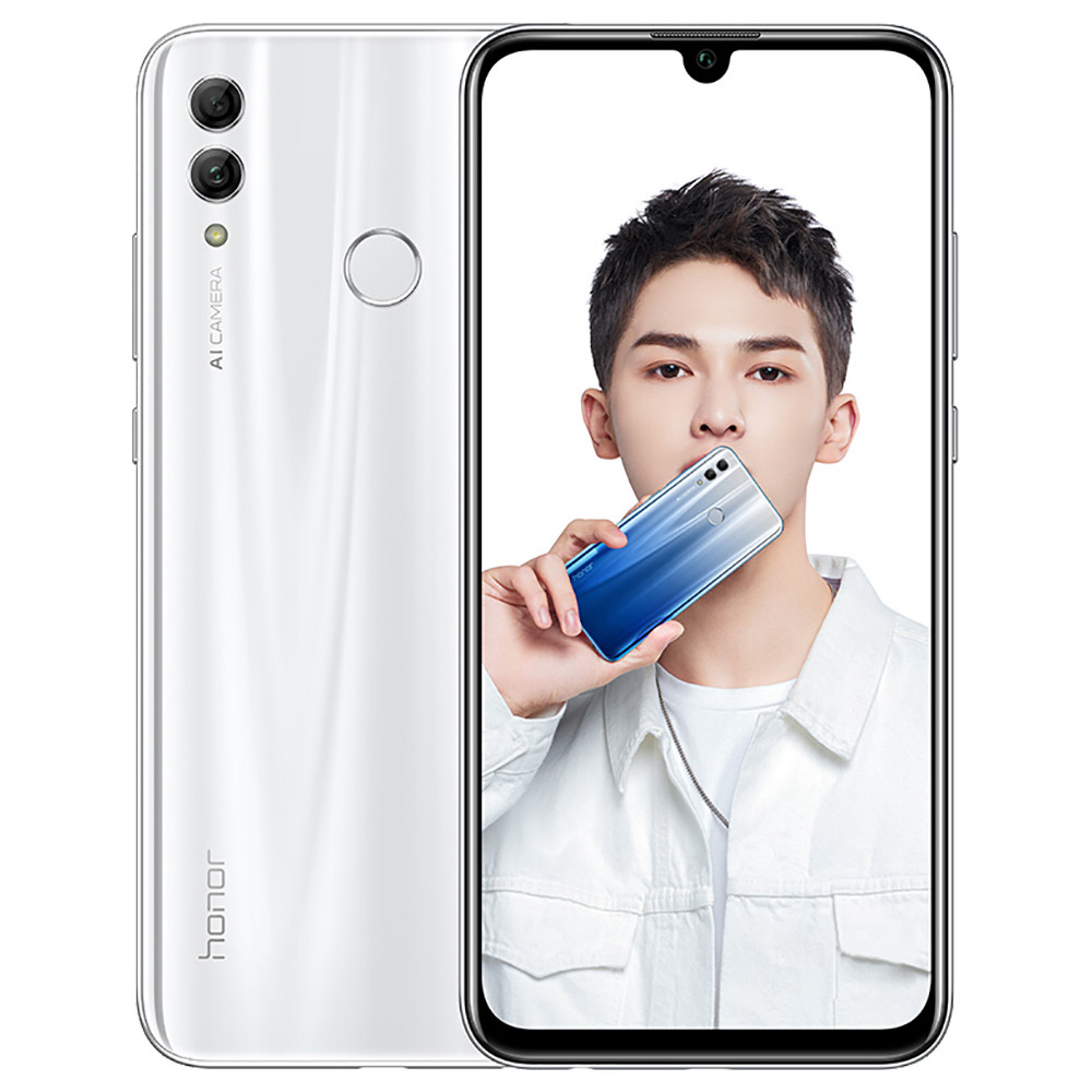 HUAWEI Honor 10 Lite CN Version 6.21 Inch 4G LTE Smartphone Kirin 710 6GB 64GB 13.0MP+2.0MP Dual Rear Cameras Android 9.0 Touch ID - White