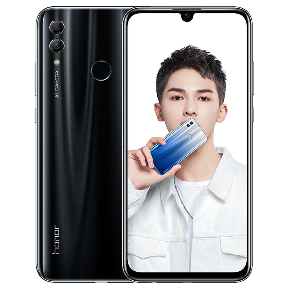 HUAWEI Honor 10 Lite 6.21 Inch 4G LTE Smartphone Kirin 710 3GB 64GB 13.0MP+2.0MP Dual Rear Cameras Android 9.0 Touch ID Global Version - Black