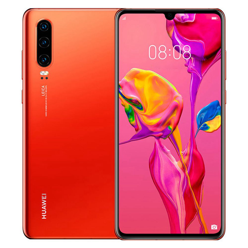 HUAWEI P30 6.1 Inch 4G LTE Smartphone Kirin 980 8GB 128GB 40.0MP+16.0MP+8.0MP Triple Rear Cameras Android 9.0 NFC In-display Fingerprint Fast Charge - Amber Sunrise