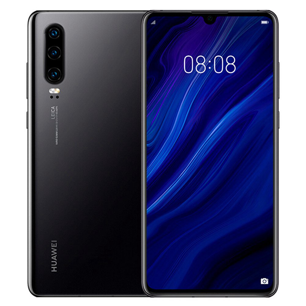 HUAWEI P30 CN Version 6.1 Inch 4G LTE Smartphone Kirin 980 8GB 128GB 40.0MP+16.0MP+8.0MP Triple Rear Cameras Android 9.0 NFC In-display Fingerprint Fast Charge - Black
