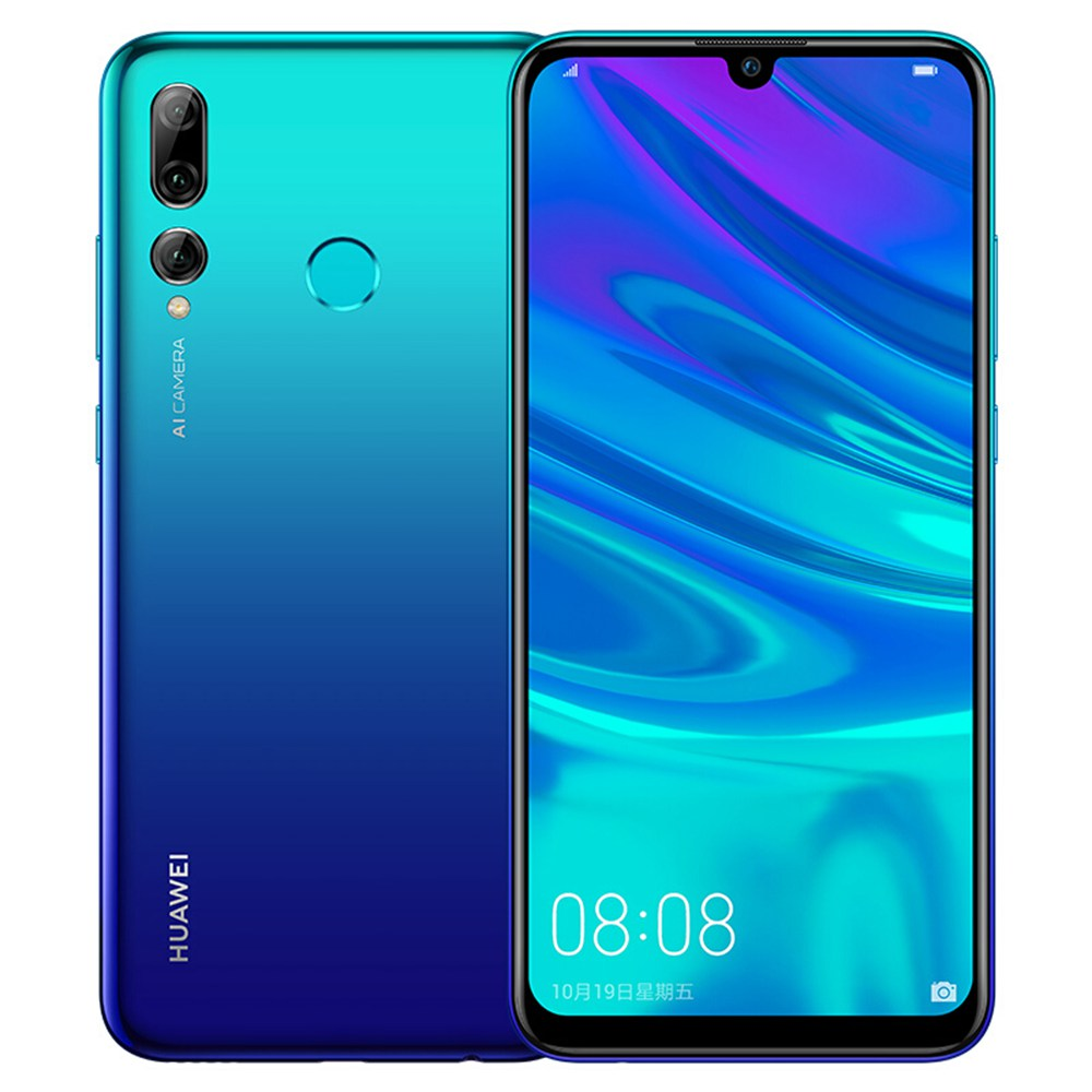 HUAWEI Enjoy 9S CN Version 6.21 Inch 4G LTE Smartphone Kirin 710 4GB 64GB 24.0MP + 16.0MP + 2.0MP Triple Rear Cameras Android 9.0 Touch ID - Blue