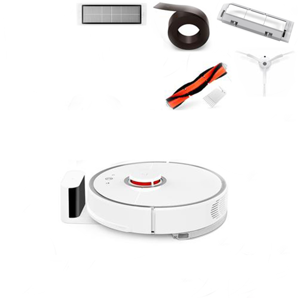 Package ARoborock S50 Robot Vacuum Cleaner 2 International Version + 2 x Side Brushes + 2 x Cleaner Filter + 1 x Rolling Brush + 1 x Virtual Wall