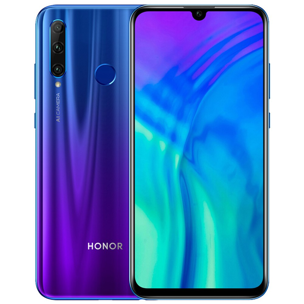 HUAWEI Honor 20i CN Version 6.21 Inch 4G LTE Smartphone Kirin 710 6GB 64GB 24.0MP + 8.0MP + 2.0MP Triple Rear Cameras Android 9 Touch ID - Blue
