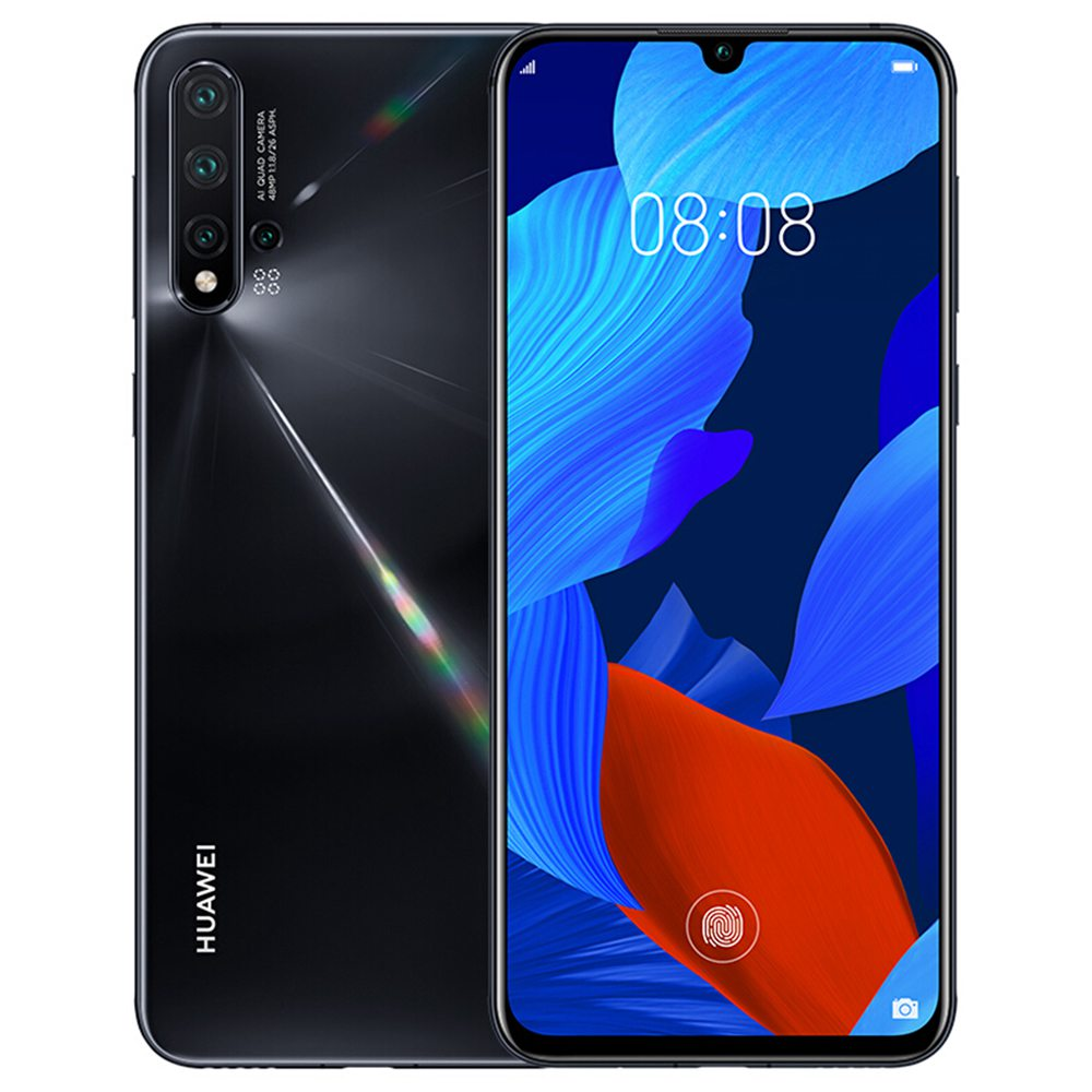 HUAWEI Nova 5 Pro CN Version 6.39 Inch 4G LTE Smartphone Kirin 980 8GB 128GB 48.0MP+16.0MP+2.0MP+2.0MP Quad Rear Cameras Android 9.0 In-display Fingerprint Fast Charge - Black