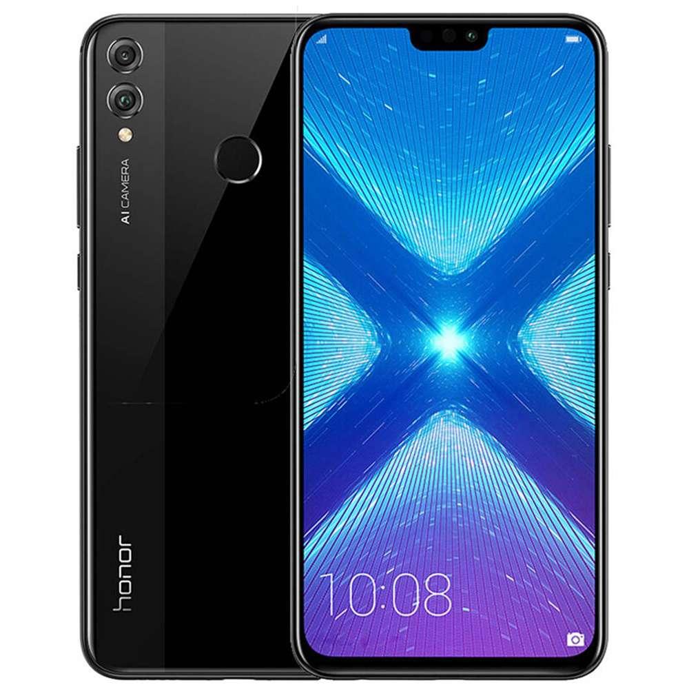 HUAWEI Honor 8X CN Version 6.5 Inch FHD+ Full Screen 4G LTE Smartphone Kirin 710 4GB 64GB 20.0MP+2.0MP Dual Rear Cameras Android 8.1 Touch ID - Black