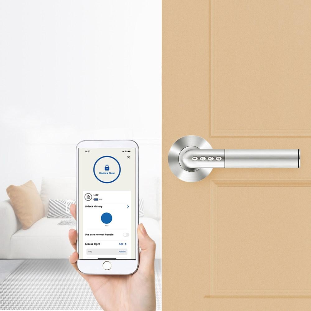 Exitec H02 Intelligent Electronic Combination Lock Smart keyless Anti-theft Door Lock iOS Android Bluetooth APP Remote Control - Silver
