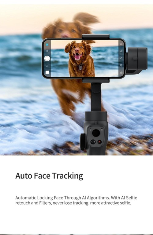 Funsnap Capture 2 3-axis Mobile Handheld Gimbal Stabilizer with Zooming Wheel Mode