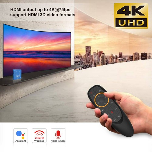 Beelink GT-King Pro Amlogic S922X-H Android 9.0 Hi-Fi Lossless Sound 4K TV Box 4GB/64GB ROM Dolby DTS Google Assistant Voice Remote Control Bluetooth 2.4G/5.8G WiFi 1000M LAN USB3.0