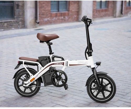 HIMO Z14 Folding Electric Bicycle 14 Inch 350W Brushless Motor Three Modes Maximum Speed 25km/h Up To 80km Range 12AH Lithium Battery Maximum Load 100kg Hidden Inflator Standard Edition - Gray