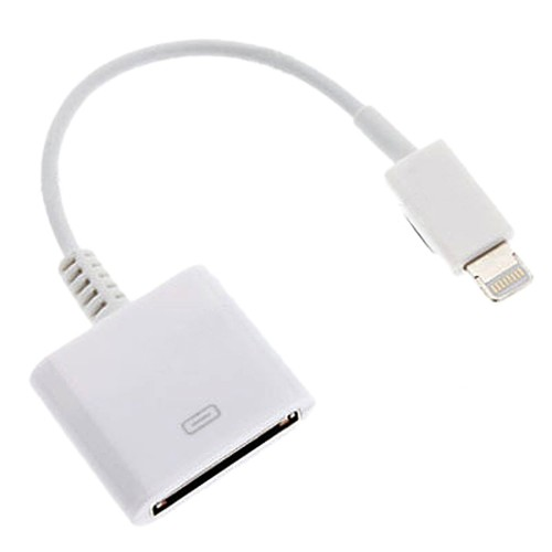 Lighting to 30-P Adapter Hongwei 8-P to 30-P Charge /& Sync Cable Adapter Converter for Phone X 8 7 7 Plus 6S 5S 5C Pad White 8 P to 30 P Adapter