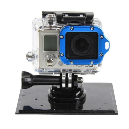 Aluminum Metal Lanyard Lens Ring Mount and Screwdriver Set for GoPro Hero 3 Hero 3+ (Blue)