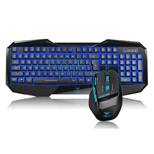 AULA USB Waterproof Backlit Wired Gaming Keyboard with Multimedia Key