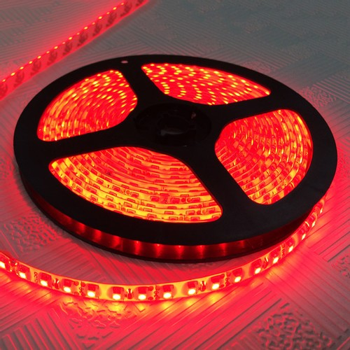 5M 600 LED 3528 SMD 12V Flexible Waterproof IP65 LED Strip Light Tape - Red