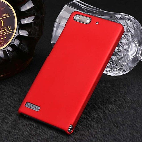 MOSKII Shield PC Back Case Protective Cover for HUAWEI Ascend G6 Smartphone - Red
