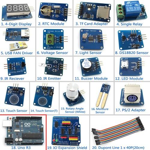 Starter Learning Kit De Módulo De Sensor De Alta Calidad Con Arduino Uno R3 Para Arduino Mega260 Leonardo