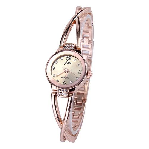 JW 954 Модные кривые Браслетные часы - Золотой