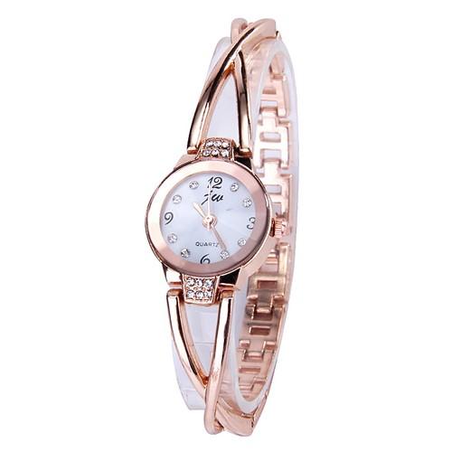 Модные часы-браслет JW 954 - белый + золотой
