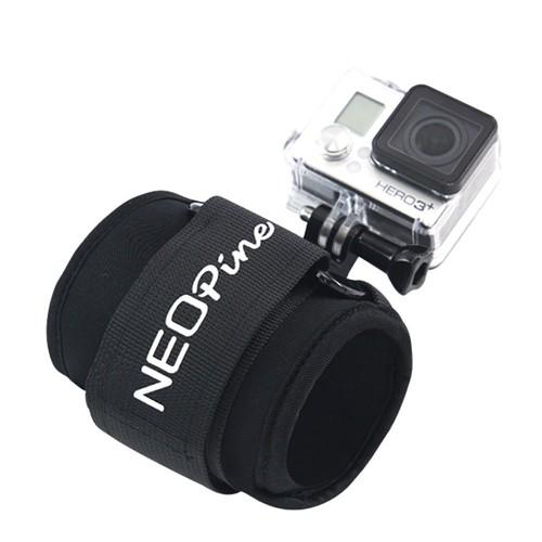 NEOpine GWS-2 Adjustable Wrist Strap With Mount Stabilizer 90 Degrees Rotation For Gopro/SJCAM/Xiaoyi Camera - Black