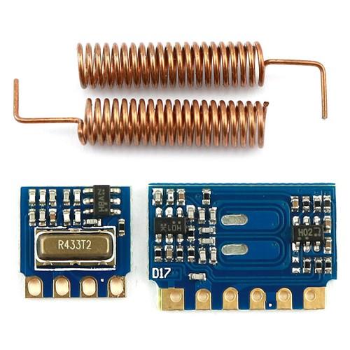 Miniaturowy Moduł Odbiornika Radiowego Rf 433mhz Wireless Link Kit Z Antenami Sprężynowymi Dla Arduino