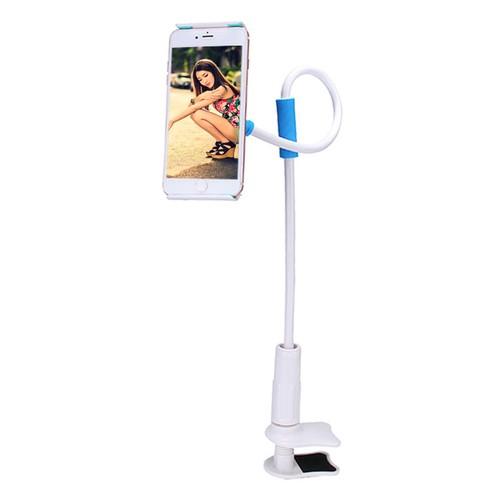 Универсальный 360 вращающийся гибкий металлический ленивый держатель с четырьмя креплениями для мобильного телефона - Blue
