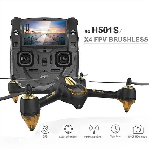 Hubsan X4 H501S 5.8G FPV Brushless With 1080P HD Camera GPS RC Quadcopter RTF - Black