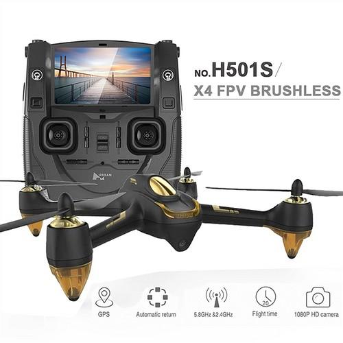 Hubsan X4 H501S 5.8G FPV Brushless With 1080P HD Camera GPS RC Quadcopter RTF - Black