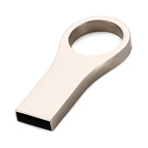 U66 Metal 16GB USB 2.0 Flash Pen Drive Storage Memory U Disk - Silver