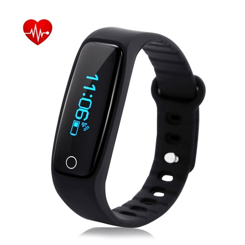 Teclast H30 Heart Rate Monitoring Smart Bracelet - Black