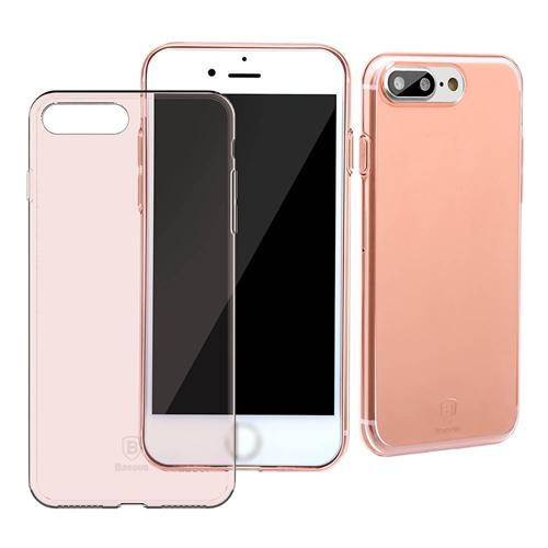 Baseus Simple Case Ultra,thin Clear Soft TPU Back Cover Fashion Colorful  Case For iPhone 8 Plus / iPhone 7 Plus 5.5inch , Transparent Rose Gold