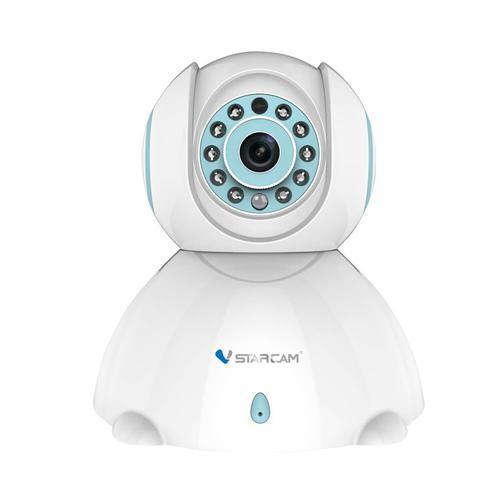 Vstarcam C7842WIP 720P HD WiFi IP Camera H.264 video compression 1.0 Megapixel - White + Blue