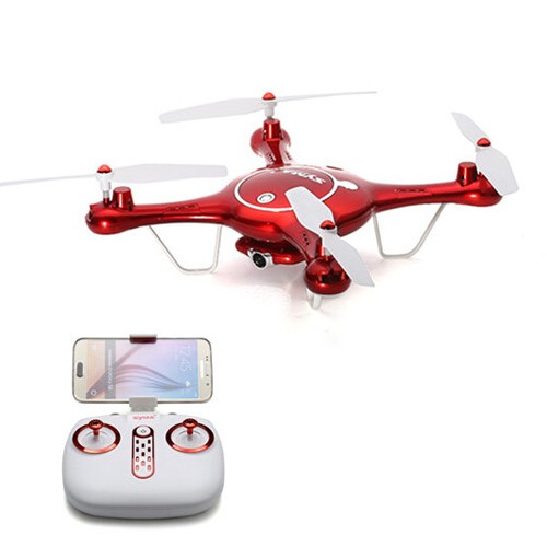 SYMA X5UW WIFI FPV With 720P HD Camera Altitude Hold Mode 2.4G 4CH 6-Axis Gyro RC Quadcopter RTF - Red