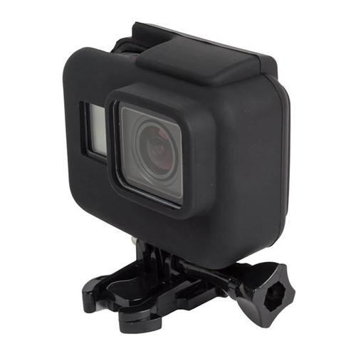 Camera Frame Soft Silicone Case for Gopro Hero5 Action Camera - Black
