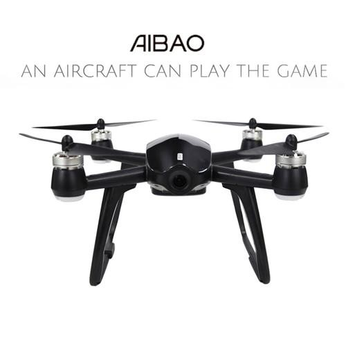 Walkera Aibao WIFI FPV 12MP 4K UHD Camera APP Control Virtual Reality VR Racing RC Quadcopter RTF - Black