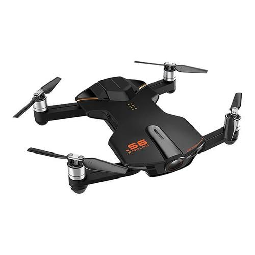 Wingsland S6 Pocket Selfie Drone FPV 4K HD Camera GPS Obstacle Avoidance RC Quadcopter - Black
