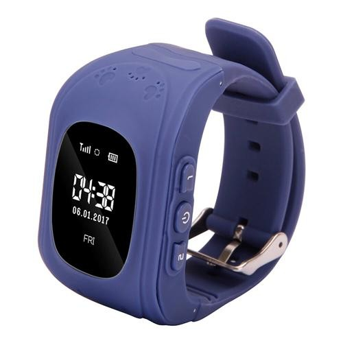 Q50 Kids Smart Watch Phone GPS LBS Safe Children Watch Activity Tracker 2G  GSM Micro SIM SOS Call Compatible with Android IOS - Dark Blue