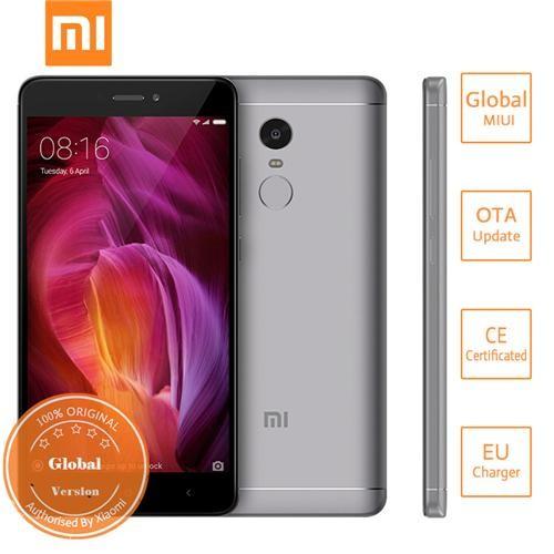 Xiaomi Redmi Note 4 5.5 inch 4G LTE Smartphone 4GB 64GB Snapdragon 625 octa-core 13.0MP MIUI 8 Touch ID 4100mAh Metal Body Global Version - Gray