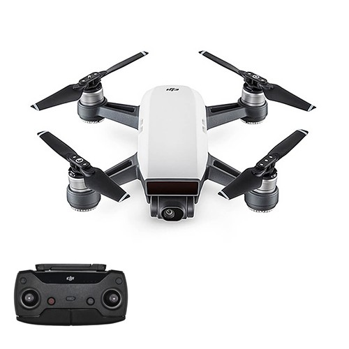 DJI Spark Fly More Combo Mini Selfie Drone WiFi FPV 12MP Camera GPS GLONASS RC Quadcopter RTF - White