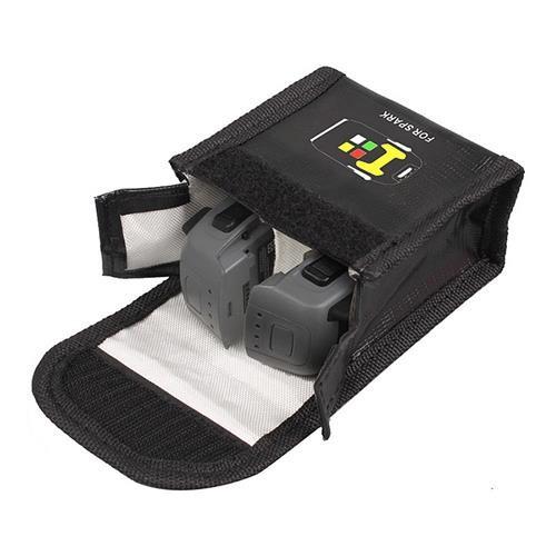 2 Pack Original DJI Spark 3S 11.4V 1480mAh Intelligent Flight Battery + Protective Bag