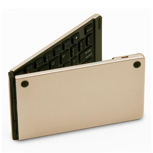 The Lastest Model Gold Support Android//Windows//iOS LYX F66 Foldable Bluetooth Wireless 66 Keys Keyboard Color : Gold
