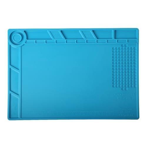 Blue Heat Insulation Repair Pad Soldering Scale Ruler Silicone Anti Static Mat