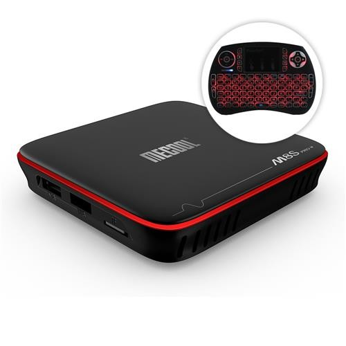 2.4G Keyboard MECOOL M8S PRO W S905W Smart TV Box Quad Core Android 7.1 WIFI 4K