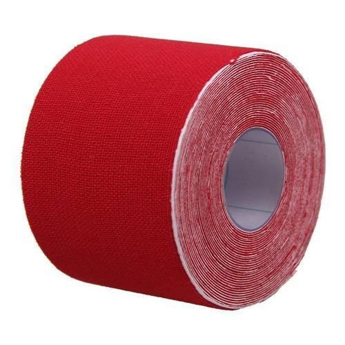 Medical Roll Adhesive Muscle Sticky Tape Cotton Kinesiology Sports Elastic Bandage Waterproof 5cm * 5m - Red