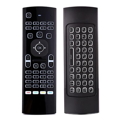 W10 GYRO 2.4G Wireless Remote Control Air Mouse 6Axis Sensing Keyboard Backlight