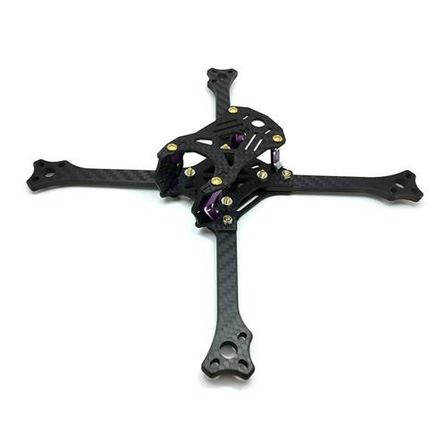 3BHOBBY 211 211mm Wheelbase FPV 3K Carbon Fiber 5mm Thickness Main Board Frame Kit - Positive X Arm
