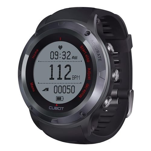 CUBOT F1 Smartwatch NORDIC Chip IP67 Water Resistant Heart Rate Monitor Bluetooth Calls SMS Reminder Compatible With Android IOS - Black